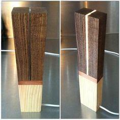 Cool wood led lamp.