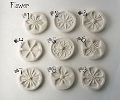 Clay Texture Stamps For Pottery Polymer Clay CHOOSE by GiselleNo5