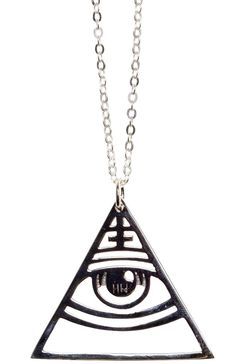 DISTURBIA ORACLE NECKLACE Have a mystifying 3rd eye around your neck at all times! Hailing from the Disturbia House Of Wolves collection this necklace is stamped sterling silver and hangs on a dainty chain. $32.00 #disturbia #necklace jewelry #oracle