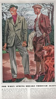 what do you think of this for villain wear?  Esquire fashion illustrations - April 1938