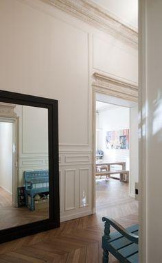 巴黎老豪宅,保留舊線板的時尚轉身   小院,關於家的設計