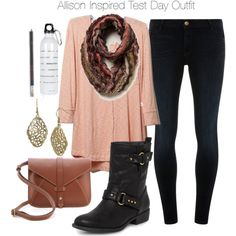 """Allison Inspired Test Day Outfit"" by veterization on Polyvore"