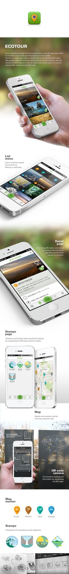Ecotour app by Yoon J Kim, via Behance