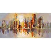 Found it at AllModern - City Life Painting Print on Wrapped Canvas