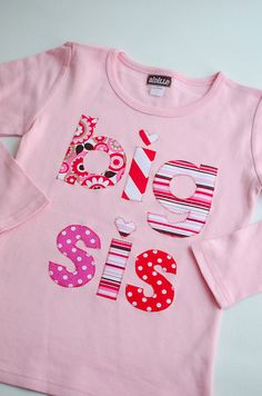 Valentines Day Big Sister Shirt Big Sis Shirt Pink Big by Aidille