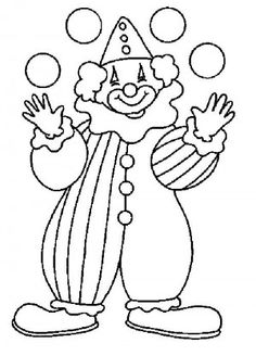 Clown With Balloons Circus Clowns Coloring Pages - Enjoy Coloring Coloring Pages To Print, Colouring Pages, Coloring Pages For Kids, Coloring Sheets, Adult Coloring, Coloring Books, Clown Crafts, Circus Crafts, Clown Party
