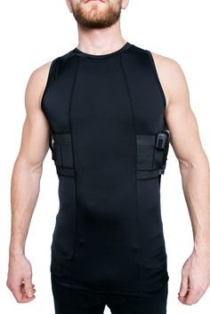 Graystone Gun Holster Tank Top Shirt Concealed Carry Clothing for Men - Easy Reach Gun Concealment Sleeveless Top Tank Tactical Compression CCW Shirt Holster Shirt, Tactical Shirt, Gun Holster, Tactical Gear, Concealed Carry Clothing, Concealed Carry Holsters, Tank Top Shirt, Tank Tops, Shirt Tucked In