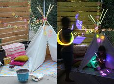 Neon Camp Out with Bracelet Lights DIY