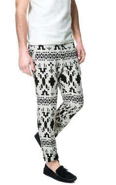 ETHNIC PRINT TROUSERS from Zara  men's fashion summer 2013
