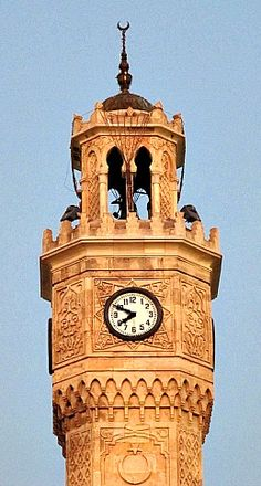Konak Square clock tower. Izmir, Turkey