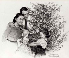 Make Christmas Dreams Come True; by Norman Rockwell.