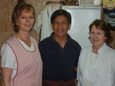 Marisol Beltrán, Nelson Romeo y Rosa Muñoz,hace unos años en la cocina de Docamar.