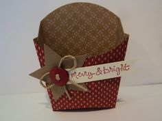 Fry Box - Christmas by candee porter - Cards and Paper Crafts at Splitcoaststampers christmaspapercrafts Christmas Craft Fair, Christmas Favors, Christmas Paper Crafts, Stampin Up Christmas, Christmas Bags, Christmas Gift Wrapping, Christmas Projects, Fry Box, Box Maker