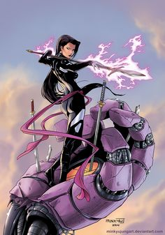 Psylocke by MinkyuJungArt.deviantart.com on @DeviantArt
