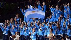 Delegación argentina en la apertura de los juegos olímpicos.