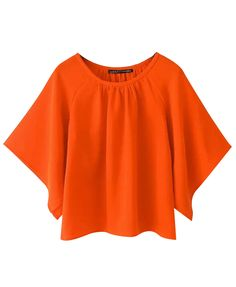 Batwing Sleeves Loose Fit Pullover Blouse