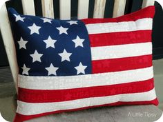 American Stars and Stripes Pillow from a place mat