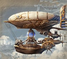 ronbeckdesigns steampunk airship transportation design concept art You observe this can flourish for any site, Steampunk Ship, Steampunk Kunst, Steampunk Design, Steampunk Costume, Steampunk Fashion, Gothic Fashion, Steampunk Drawing, Steampunk Outfits, Steampunk Mask