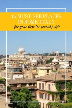 Planning your first trip to Rome? We know it can be overwhelming. To get you started on the right foot, here are 15 must-see places not to miss. Italy Travel Tips, Rome Travel, Travel Guide, Rome Attractions, Rome Food, Dream Vacations, Trip Planning, How To Memorize Things, Wanderlust