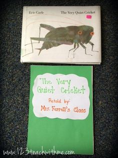 "1..2..3.. Teach With Me: ""The Very Quiet Cricket"": Writing Activity"