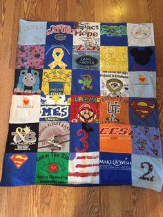 Toddler/Baby Quilts.  See our favorite t-shirt quilts and then visit projectrepat.com to turn your own memorable t-shirts into a t-shirt quilt!