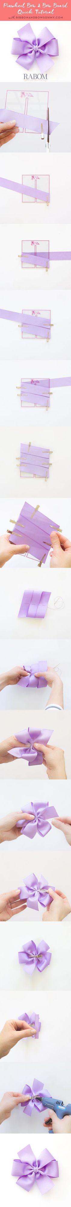 Rabom Pinwheel Bow + Bow Board Pinnable Tutorial! ribbonandbowsohmy.com