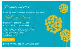 Dandelion Bridal Shower Invitations by CCdesignSpace on Etsy, $12.00