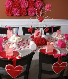 Hearts on chairs for Valentine's Day