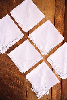 gorgeous embroidered monogrammed napkins   Joey & Jessica #wedding