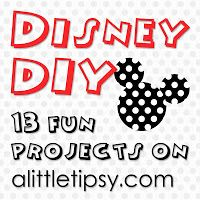 A Little Tipsy: 13 Fun DIY Disney Projects to Countdown