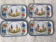A personal favourite from my Etsy shop https://www.etsy.com/uk/listing/519170329/massily-france-henriot-quimper-tin-tray