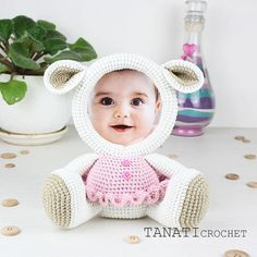 This is a crochet pattern (PDF file) NOT a finished Photo Frame you see on the photos! This pattern is available in: English (US crochet terms) Russian SKILL LEVEL: EASY Photo Frame LAMB – size 19 cm (7,5 in), if using sport weight yarn (Sport (12 wpi), 2 : Fine). Material: • yarn •