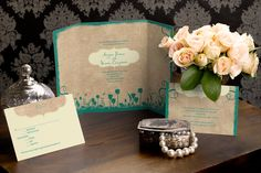 Garden with a Twist - Gate-fold Wedding Invitation by MagnetStreet