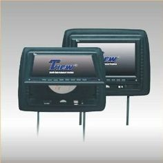 "Pair of New Tview T718dvpl-black Headrests with 7"" Tft Car Monitors Built in + Built in Dvd/cd/mp3/divx Player + Built in Fm Modulator + Ir Transmitter + Usb Input and Sd Card Reader + 2 Remotes + 2 Year Warranty by TVIEW. $194.95. PAIR OF NEW TVIEW T718DVPL-BLACK HEADRESTS WITH 7"" TFT CAR MONITORS BUILT IN + BUILT IN DVD/CD/MP3/DIVX PLAYER + BUILT IN FM MODULATOR + IR TRANSMITTER + USB INPUT AND SD CARD READER + 2 REMOTES + 2 YEAR WARRANTY  Features:   7' MONITOR W/..."