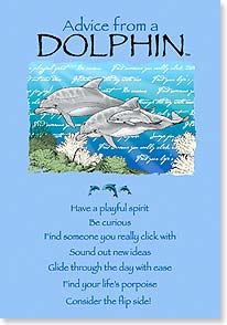 Birthday Card - Birthday Advice from a Dolphin   Your True Nature®   60278   Leanin' Tree