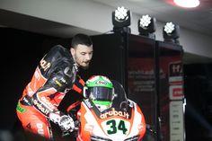 Davide Giugliano, pilota dell'Aruba.it Racing - Ducati Superbike 2015