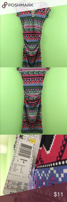 Bongo Dress w/ Cool Print and Mini Sleeves Small Bongo Dress with Cool Print and Mini Sleeves Size small BONGO Dresses