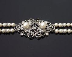 Wedding Bracelets - Vintage Inspired Rhinestone And Pearl Bracelet, Eve Wedding Earrings, Wedding Jewelry, Wedding Bracelets, Pearl Bracelet, Vintage Inspired, Vintage Style, Fashion Bracelets, Swarovski Crystals, Jewels