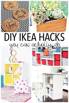 DIY IKEA hacks that you can actually do! Love these ideas for everything from IKEA storage to IKEA furniture hacks, along with DIY decor and accessories. You won't believe how clever these easy DIY projects are! Diy Home Decor Rustic, Easy Home Decor, Cheap Home Decor, Do It Yourself Ikea, Do It Yourself Furniture, Ikea Furniture Hacks, Eco Furniture, Furniture Dolly, Furniture Storage