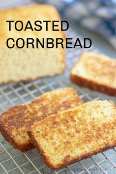 Toasted Cornbread has an extra burst of flavor that comes from a few minutes in a buttered skillet. This recipe includes tips for making the perfect toasted cornbread. Sweet Cornbread, Cornbread Recipes, Jiffy Cornbread, Cornbread Muffins, Healthy Bread Recipes, Fun Recipes, Family Recipes, Drink Recipes, Instant Pot