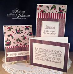 Jesus/Silent Night Card Kit, The Stamp Simply Ribbon Store