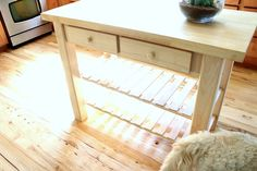 Diy Kitchen Island From New Unfinished Furniture To Antique ...