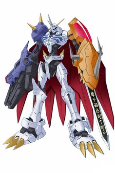 """Alphamon One of the Holy Knight-type """"Royal Knights"""", the highest rank of Network Security which..."""