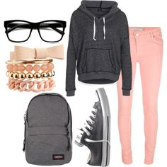 Actually something I would wear, minus the nerd glasses :) This is an outfit for one of those days that you want to wear nice clothes but be really comfortable :)