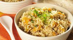 Receita de arroz integral com abóbora japonesa - Bolsa de Mulher