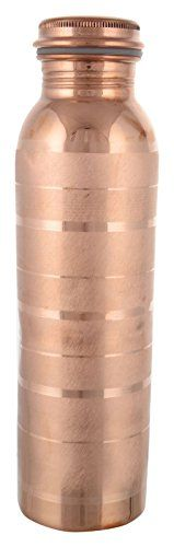 """Frestol Copper Designer Water Bottle Serveware, Tableware Capacity 750 ml - At Frestol.com we strive to achieve the highest level of """"Customer Satisfaction"""" possible. We are specialized in Decorative Accessories in Brass, Aluminum Iron, Glass and Wood. We provide our customers with Broader selection of products, Superior buying experience, Timely delivery of products, an..."""