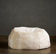 Grand Luxe Faux Fur Bean Bag Chair - Arctic Fox | Bean Bags | Restoration Hardware