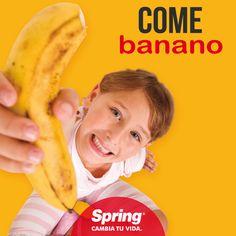 Si te sientes cansado come #banano, te dará la #energía que necesitas. Además, es mucho más #saludable que la #cafeína