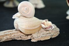 Duck made from pear shell on sm. piece of drift wood. Quakers anyone?