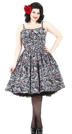 The Jenny by Pinup Couture was designed based on an early 1960's day dress, perfectly embodying the fun and playfulness of that time! #BlameBetty #Valentines #PinupCouture